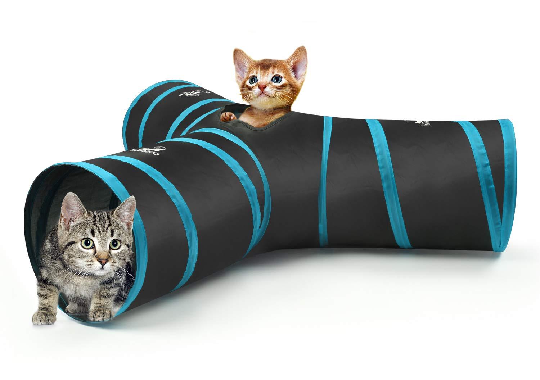Laberinto GatosPrima Del Túnel Pompón 3 Extensible Gato Para Vías Y Jugar Pawaboo Túneles Juguete Con Campanas Casa Plegable lFTJc3K1