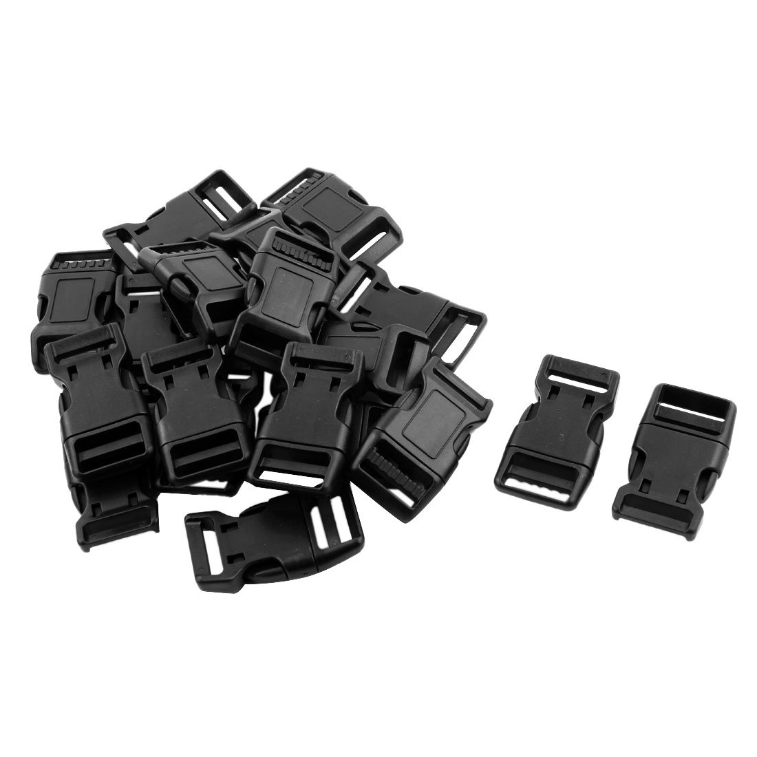uxcell Outdoor Travel Backpack Adjustable Bag Dual Pinch Release Buckle 20pcs Black