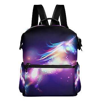 ALAZA - Mochila con diseño de unicornio galáxico, impermeable, para viaje y colegio: Amazon.es: Equipaje