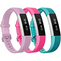 "Elobeth for Fitbit Ace Strap and Fitbit Alta/ Fitbit Alta HR band (5.5""-6.7""), Newest Adjustable Sport Strap Replacement Bands for Fitbit Ace and Fitbit Alta HR Smartwatch Fitness Wristbands [Just for Kids] 3-Pack"