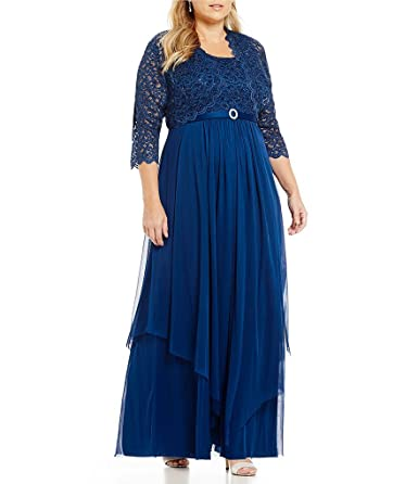 Vintage Evening Dresses and Formal Evening Gowns R&M Richards Womens Plus Size Formal Jacket Dress - Mother Of The Bride Dress $129.99 AT vintagedancer.com