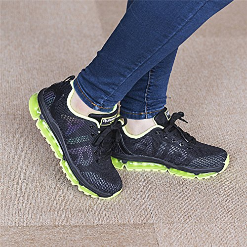 TORISKY Men's Women's Sneakers Sport Running Shoes Outdoor Walking Lightweight Air Cushion Green I5fAZTN