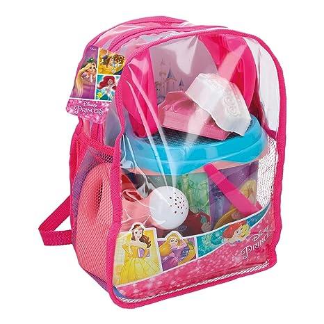 ColorBaby Mochila Set Playa Princesas Disney - Cubo con Accesorios 48211