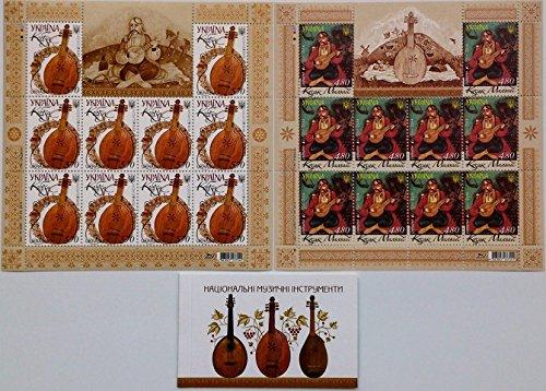 Ukrainian stamps / Ukraine 2014 Europa CEPT Musical Instruments 2 sheetlets & Booklet