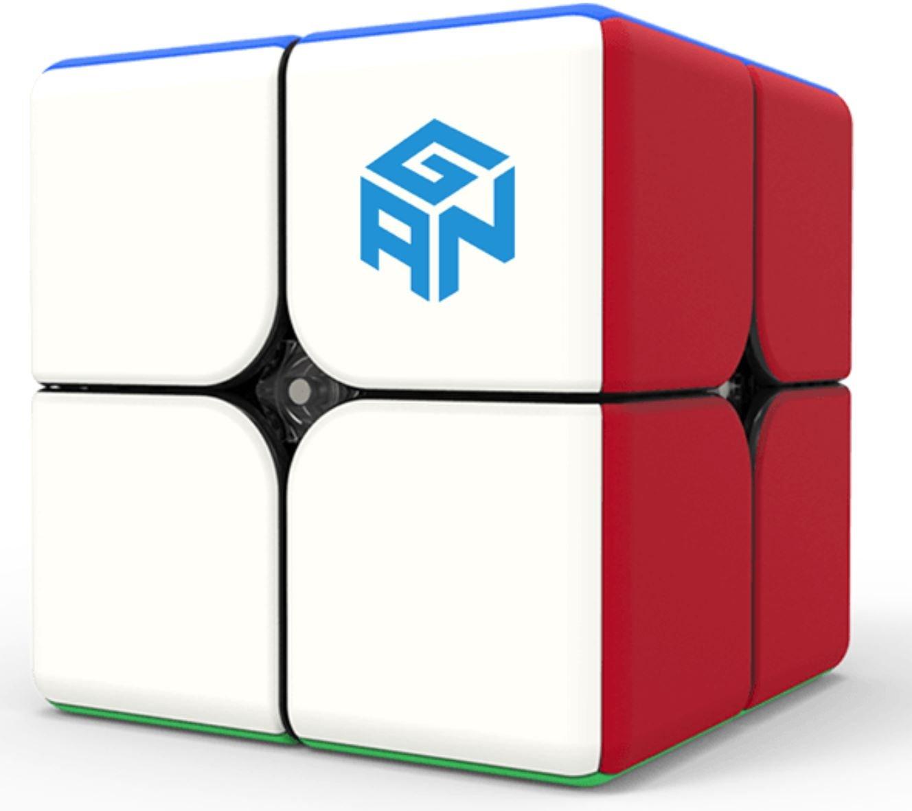 GAN 249 V2 M Magnetic Stickerlos - Zauberwürfel mit Magnition - GAN249 V2M - 2x2x2 Speed Cube Gans 249 Version 2 GAN CUBE