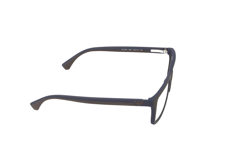 EMPORIO ARMANI EA 3034 Eyeglasses 5231 Brown RubbeRB lue 55-16-145   Amazon.co.uk  Clothing 65fdc821be