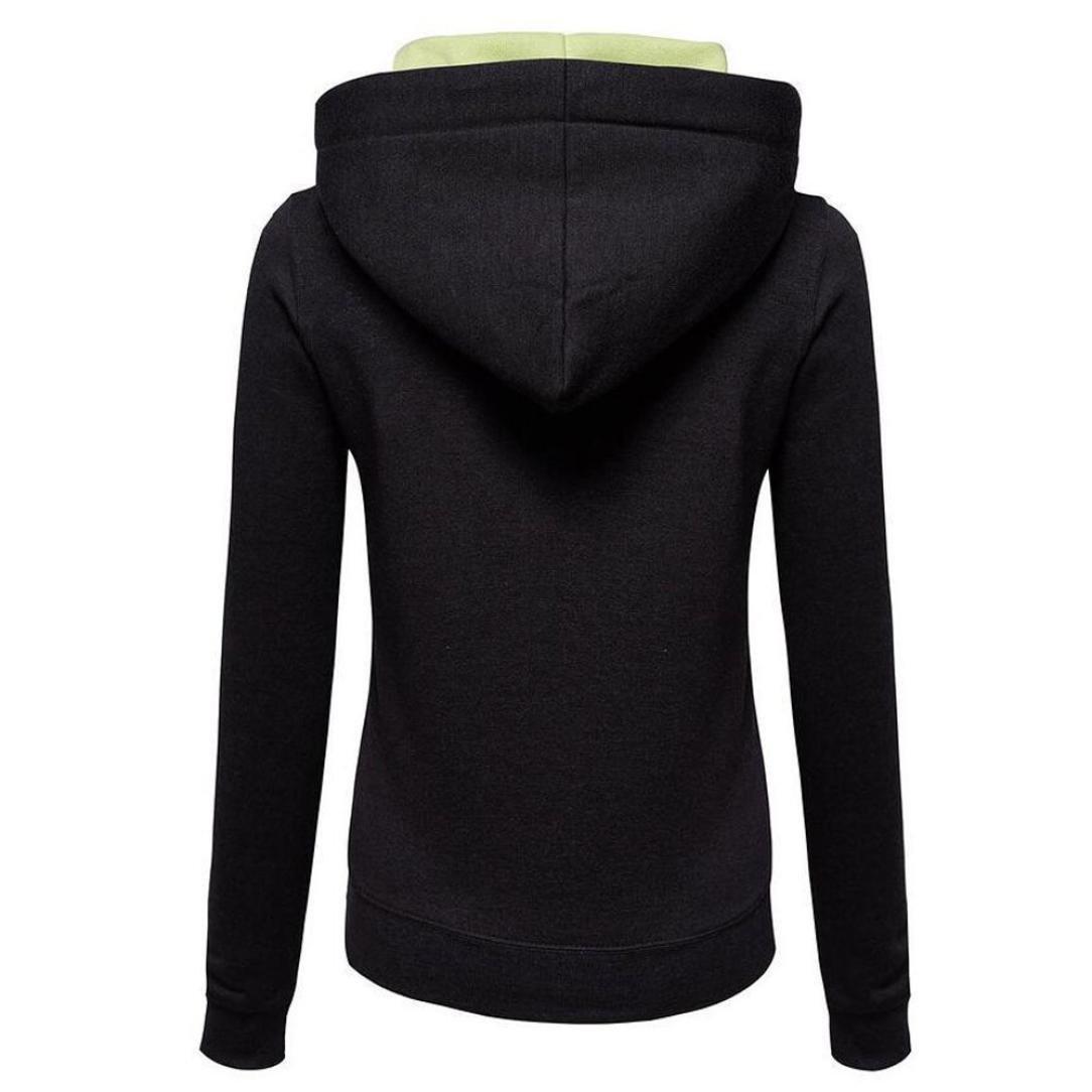 38b705364f6ca SINMA Women Fall Casual Pullover Zipper Pocket Wide Drawstring Hooded  Sweatshirt Tops (S