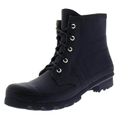 Womens Military Style 100% Rubber Waterproof Lace Up Snow Rain Boots
