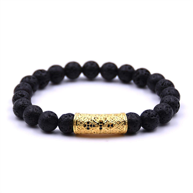 Amazon.com: Brave Rosemary Men Jewelry Micro Pave Black CZ ...