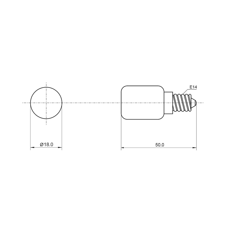 10 Stück LED Kühlschrankbirne E14 Kühlschranklampe Leuchtmittel warm-weiß 1,8W (ersetzt 15W) PerfectHD