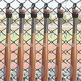 6 Baseball Bat Softball Bat Fence Rack Bat Fence Holder Dugout Rack Dugout Bat Holder - No Bat!