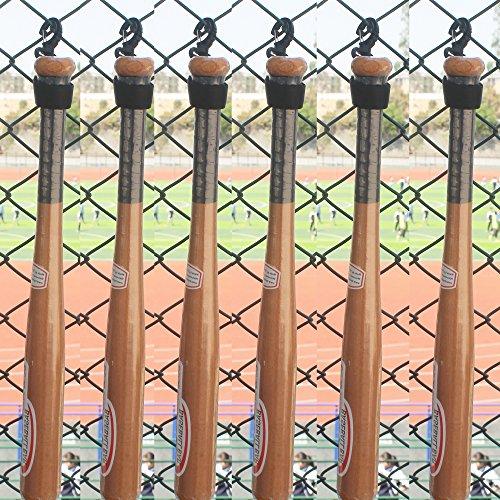 6 Baseball Bat Softball Bat Fence Rack Bat Fence Holder Dugout Rack Dugout Bat Holder - No Bat! (Baseball Fence Bat Rack)