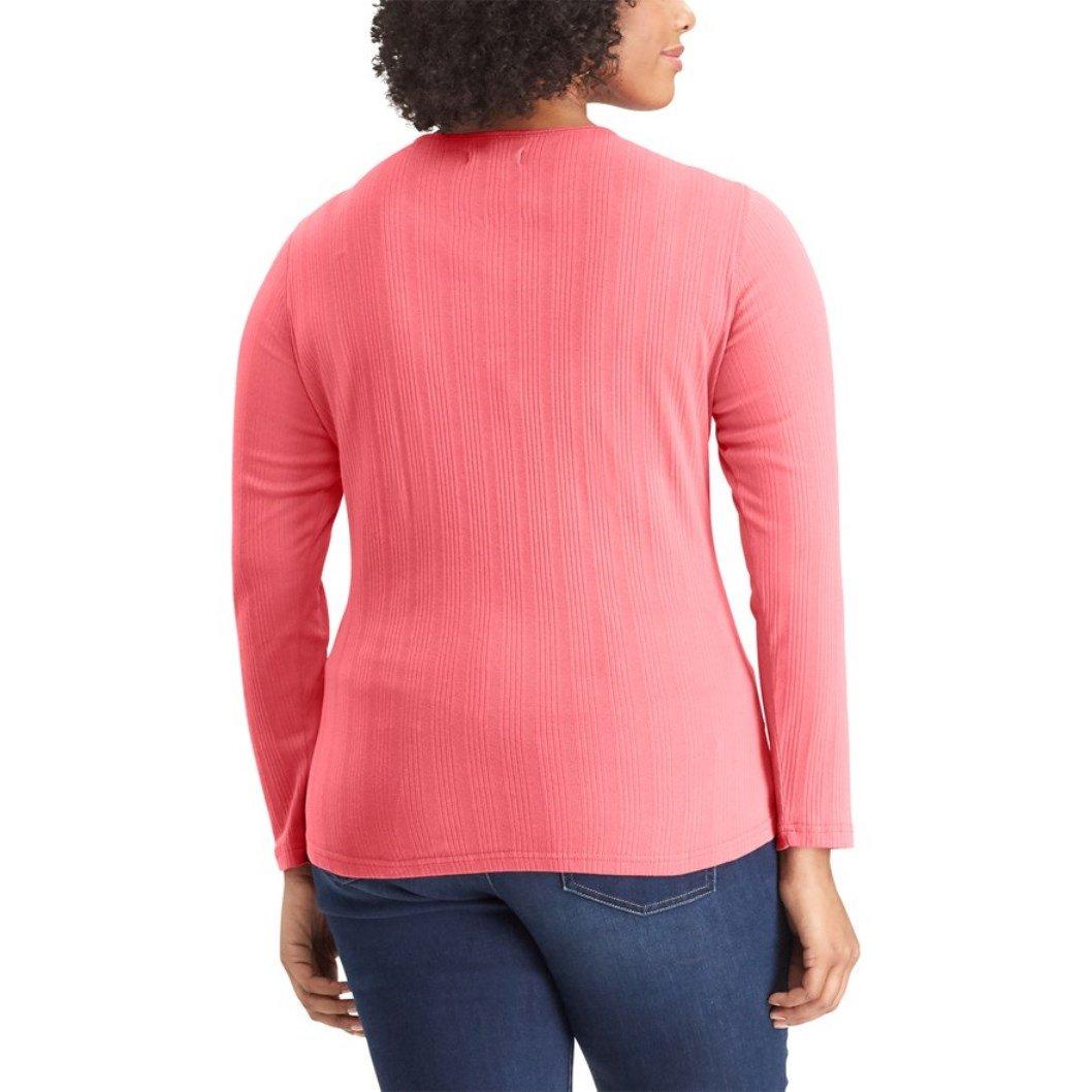 Chaps Womens Plus Size Pocket Henley