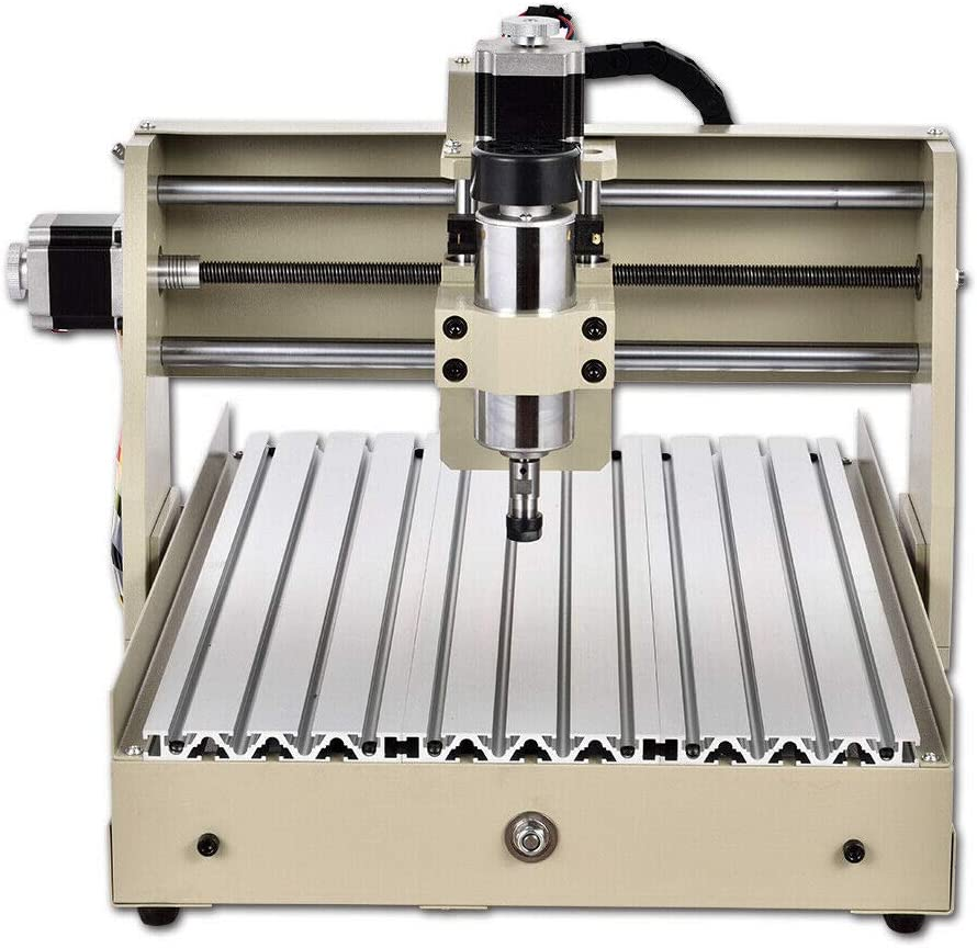 TFCFL 3040 4Axis 400W Router Desktop Engraver Engraving Drilling Milling Machine Drill Wood DIY Artwork Woodworking Cutter Parrallel Cable
