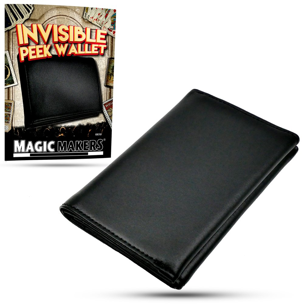 Magic Makers Invisible Peek Wallet - Mind Reading Magic Trick