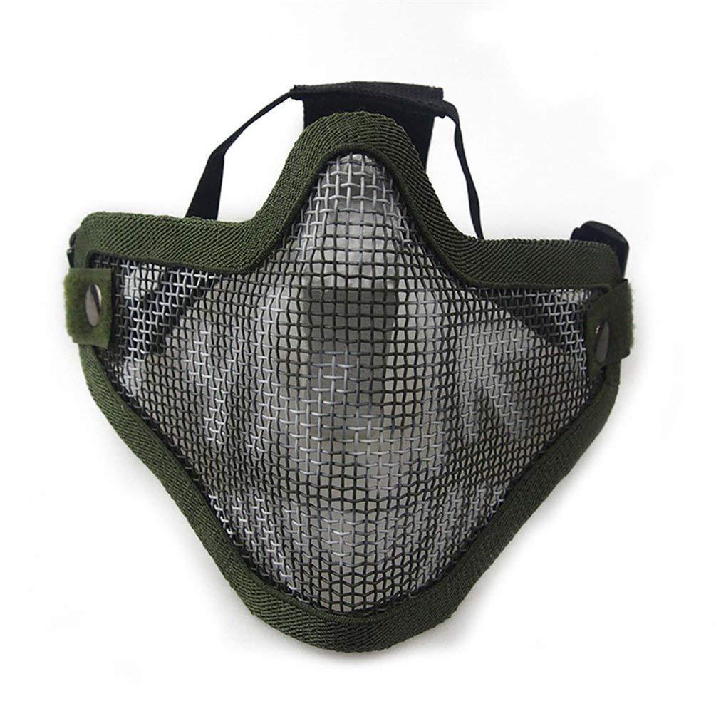 For/êt Respirant Airsoft Field Wargame Masque Tribal Chef Demi Visage M/étal Acier Net Masque de Protection Airsoft