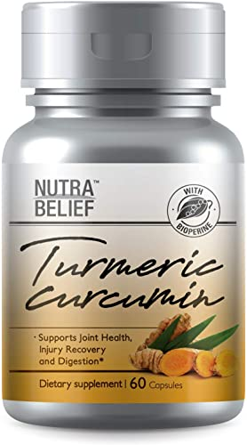 Turmeric Curcumin Curcuminoids Bioperine Citrus Bioflavonoids Ginger Vegetable Capsule Pain Relief Joint Health 60 Capsule Proudly Made in The USA