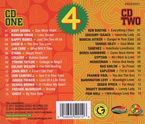 VARIOUS ARTISTS - Songs for Reggae Lovers 4 - Amazon com Music