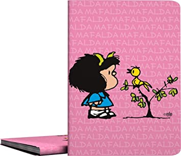Carpeta de Fundas A4 Soldadas, Diseño Mafalda Comic, 30 Fundas Transparentes, Cubiertas de Polipropileno