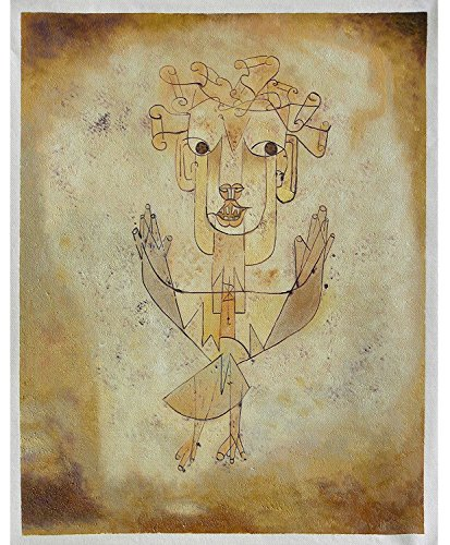 Angelus Novus (The New Angel) - Paul Klee high quality hand-painted oil painting reproduction,Angel of History,Modern Fine Art,Abstract Figure,Wall Decor ()