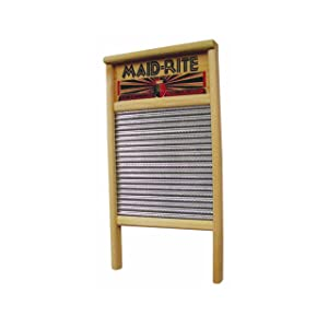 Columbus Washboard 2072 Family Size Washboard, Pack of 1 Silver