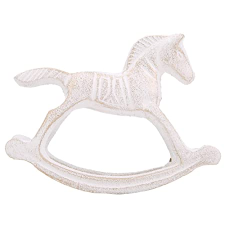 Cavallo A Dondolo Metallo.Metallo A Dondolo Cavallo Inciso Arts Crafts Statue Ornament Per