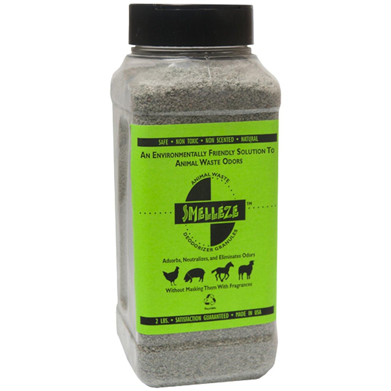 SMELLEZE Natural Animal Waste Odor Removal Deodorizer: 50 lb. Granules Rid Feces & Urine Stench by SMELLEZE