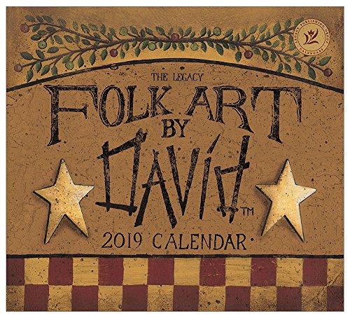 - 2019 Mini-Wall Calendar,  Folk Art by David Harden