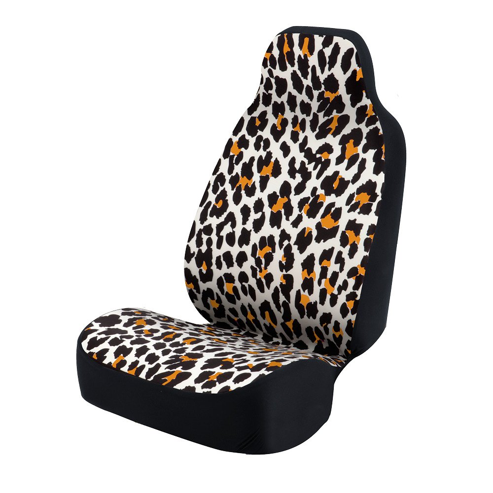 Green and Black Coverking Universal Fit 50//50 Bucket Animal Fashion Print  Seat Cover Zebra