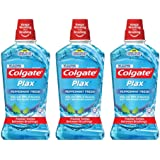 Colgate Plax Peppermint Mouthwash 1L [Bundle of 3] Value Deal