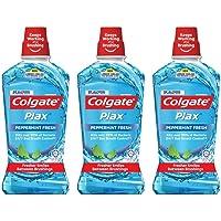 Colgate Plax Peppermint Mouthwash 1L [Bundle of 3] Value Deal