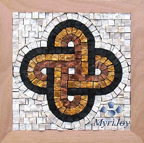 "Mosaic tile kit for adults DIY Solomon's Knot 9""x9"" Italian marble mosaic tiles - Arts and Crafts - Roman mosaics wall decor - Original Anniversary / Birthday gift ideas - Lovers knot from MyriJoy"