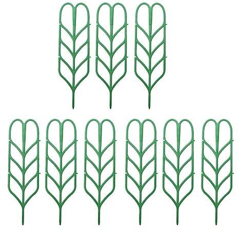 exttlliy plástico forma de hoja Planta apoyo DIY jardín Mini ...