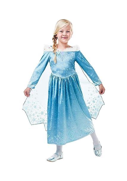 Frozen - Disfraz de princesa Elsa Deluxe para niña, infantil ...