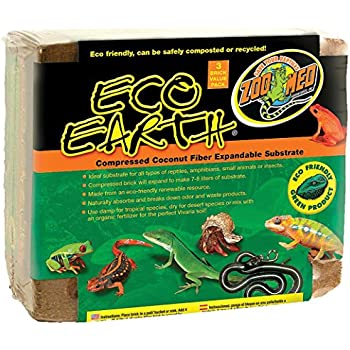 Amazon Com Zoo Med Eco Earth 3 Pack Pet Habitat