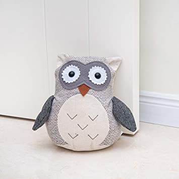 Amazon Com Decorpro Cute Decorative Door Stopper For Home And Office Door Stopper Owl Weighted Interior Fabric Design Door Stopper Office Products