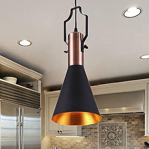 MSTAR Industrial Black Pendant Light Fitting E27 Lamp Base