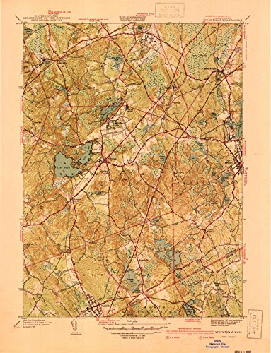 USGS Historical Topographic Map | 1940 Wrentham, MA |Fine Art Cartography Reproduction - Ma Of Map Wrentham