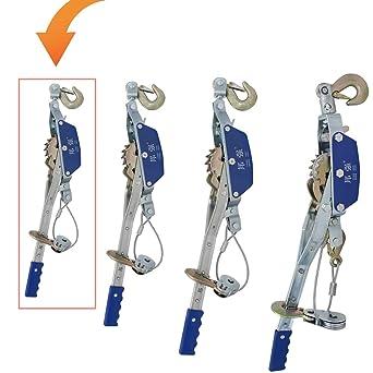 YJINGRUI Cable Extractor Engranaje Herramienta extractora manual con 2 trinquete (1T 2 ganchos)
