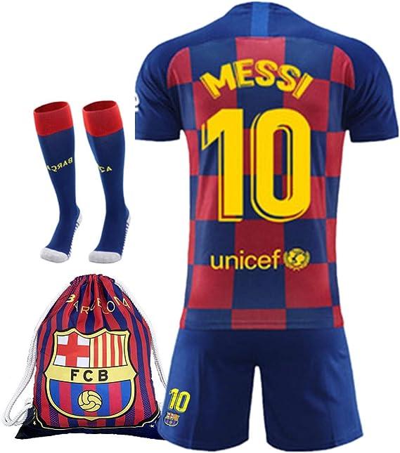 2019 2020 Barcelona 10 Lionel Messi Conjunto De Playera Y Pantalones Cortos De Futbol Para Ninos Color Rojo Y Azul Rojo Azul 28for13 14years Amazon Com Mx Ropa Zapatos Y Accesorios