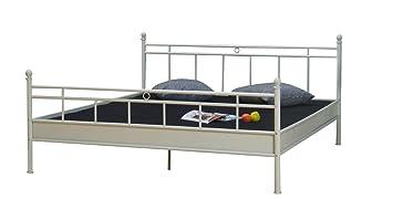 Metallbett 180x200 cm vanilla Metall Doppelbett Ehebett Schlafzimmer ...
