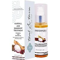 Teal & Terra Hairfall and Dandruff treatment (Serum/Very light Oil) With Onion and Castor, Vitamin E, 100 ml