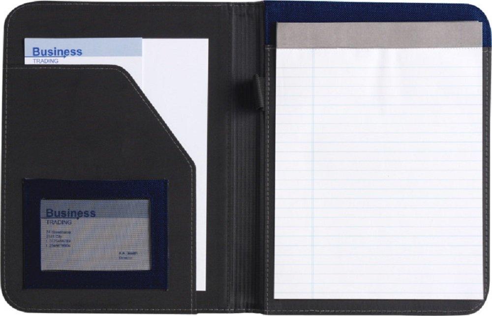 Cartellina con blocco di colore blu per documenti formato A5/