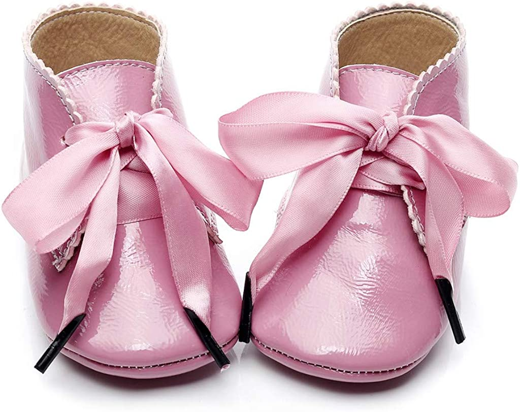 Alwayswin Baby M/ädchen Booties Neugeborene Erste Wanderer Schuhe Kurze Stiefel Mode rutschfeste Lauflernschuhe Step Schuhe Lederstiefel Stiefeletten Warme Bequeme Lederschuhe
