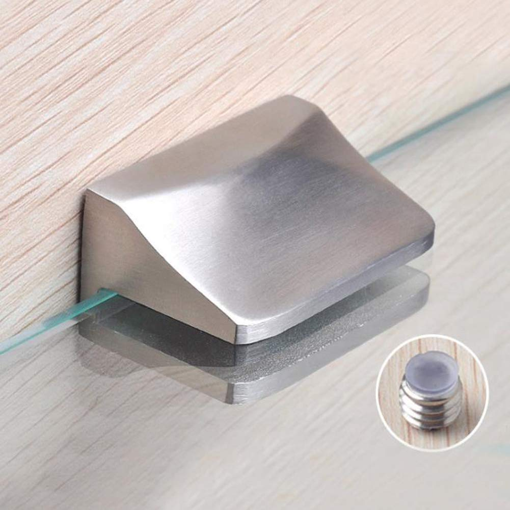 Whale GoGo 2 Pieces/One Pair Glass Clip 304 Shower Interior Shelf Clamp for 0.27'' (7mm) to 0.35'' (9mm) Glass,Surface Drawing by Whale GoGo (Image #5)