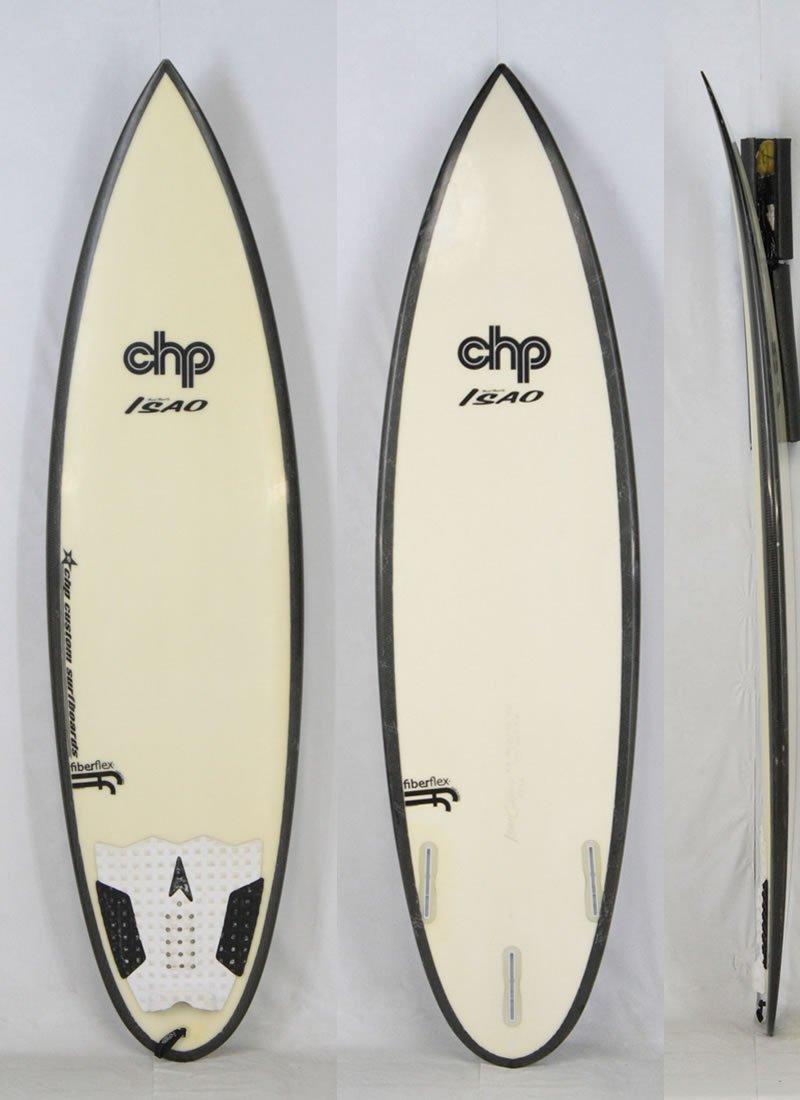最新入荷 CHP シェイプ SURF B06XCMWBLL BOARD (シーエイチピー) ISAO OKANO シェイプ SURF [WHITE×BLACK] 5'11