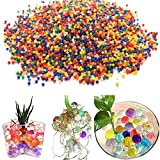 Colourful Water Beads , 40000 grains per bottle Water Gel Beads for Vase Filler Aquatic plant Children Toy Wedding Party Decoration