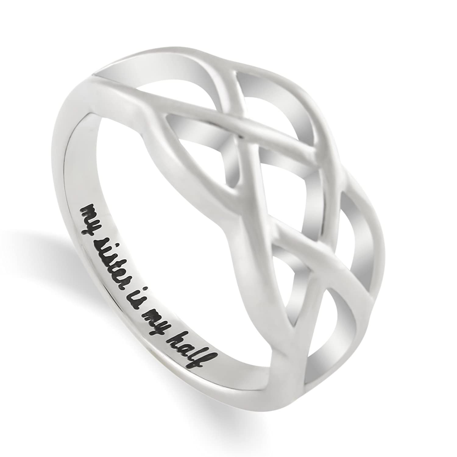 Amazon.com: Sisters Ring, Double Infinity Ring, Promise Ring for ...