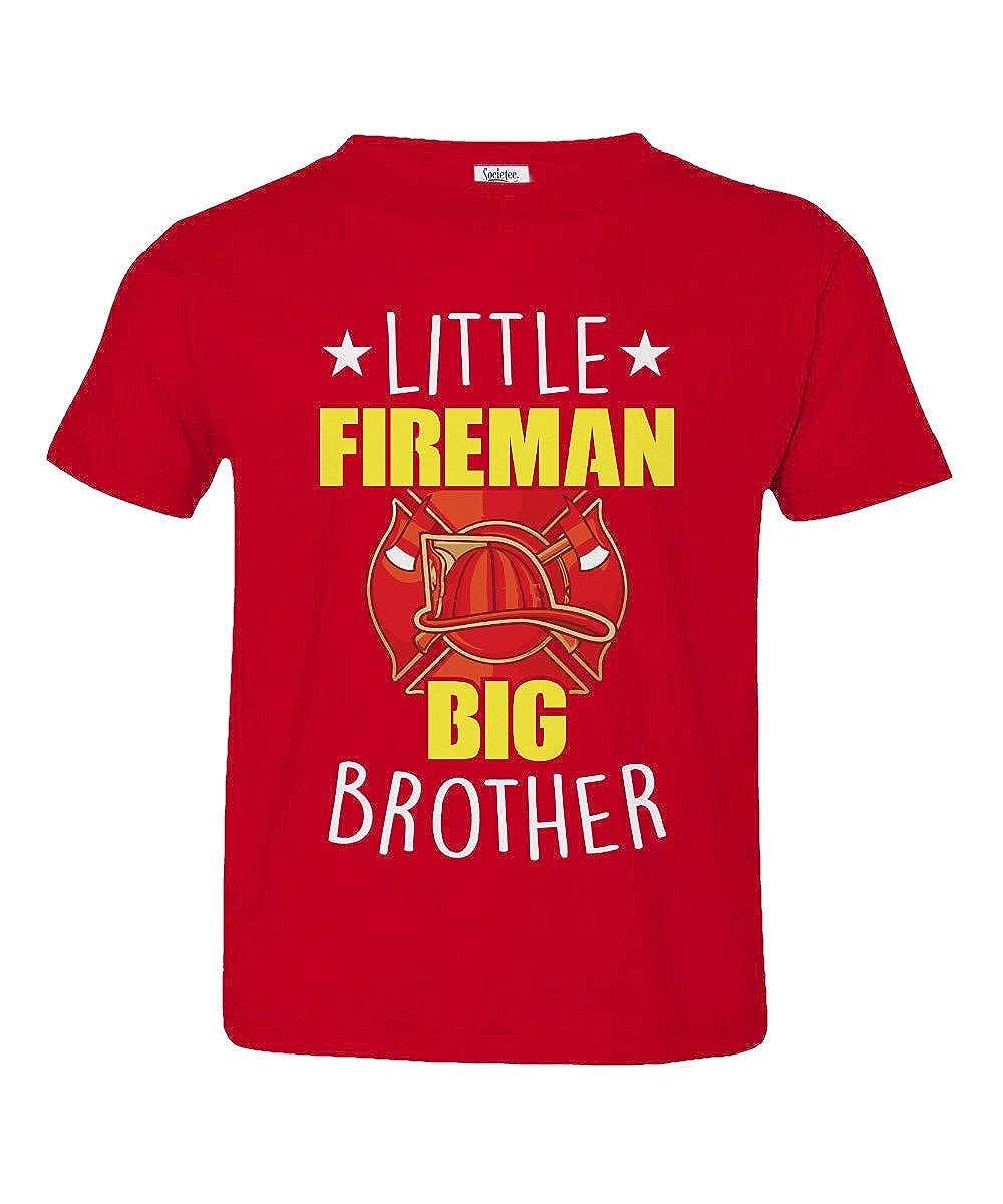 Societee Little Fireman Big Brother Little Kids Girls Boys Toddler T-Shirt