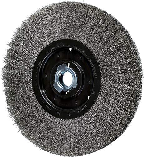 1-1//2 Face Width 2-7//8 Trim Length 3000 Maximum rpm 12 Diameter 2 Arbor Hole 2-7//8 Trim Length 1-1//2 Face Width PFERD Inc. PFERD 81184 Medium Face Crimped Wheel Brush Stainless Steel Wire 12 Diameter 0.014 Wire Size 2 Arbor Hole